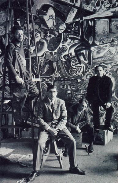 GRAND-TABLEAU-ANTIFASCITE-PEINTRES-EN-1961