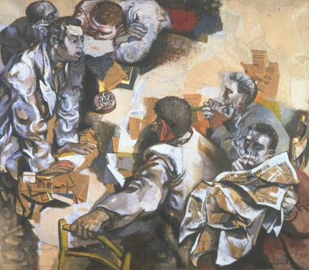 The Discussion 1959-60 by Renato Guttuso 1912-1987