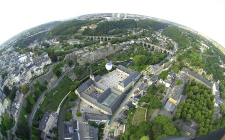 Aerial-view-Luxembourg-City-Luxembourg