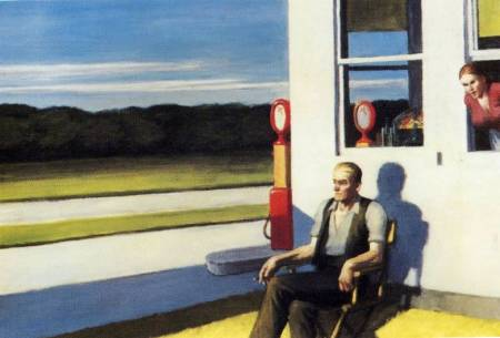 Four Lane Road Edward Hopper